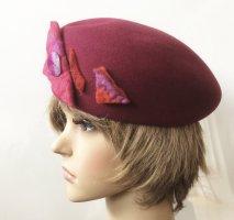 Atelier Creation Sombrero de fieltro púrpura-rojo oscuro Lana