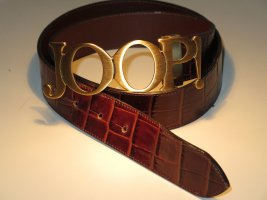 exklusiver JOOP- Damengürtel, Genuine Leather/Kroko, Gürtelschnalle mattgold