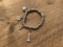 Exklusives, sehr wenig getragenes LINKS OF LONDON Bettelarmband mit Charms, echtes Silber