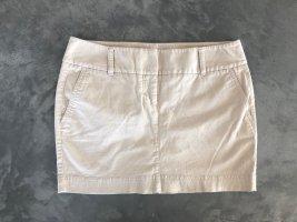 "Express Designer beige ""Low Rise"" Rock Skirt Minirock Taschen Hochwertig Modern Schick Klassiker Stil gr 38 40"