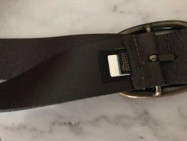 Cinturón de cuero marrón-negro