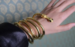 Extravagant! 2in1 Collier/ Armband Körperschmuck gold Schlange