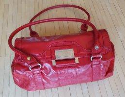 Extravagante, rote Damen-Handtasche in Lederlook (Fiorelli)