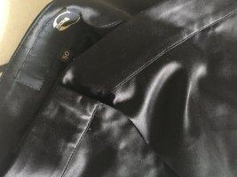 Extravagante Satin Designer Hose Made in Italy  just *Cavalli* tiefschwarz 44
