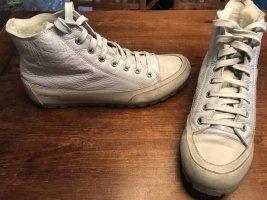 Candice Cooper Basket à lacet gris clair-blanc cassé cuir