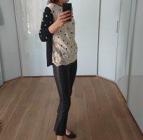 Twin set Sweter z okrągłym dekoltem kremowy-czarny