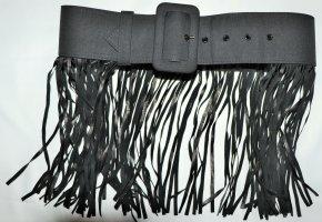 Extravaganter Stoff/Leder-Gürtel von Giambattista Valli