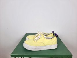 Eytys Sneakers Gr. 38 Plateau Mod. Mother Gelb Canvas weiss Turnschuhe