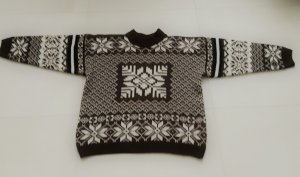 Norwegian Sweater brown-white mixture fibre