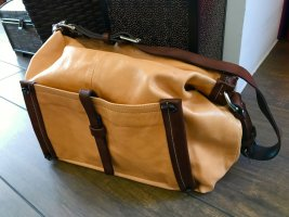 Fabiani Borsa telaio marrone-color cammello Pelle
