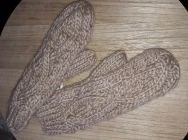 H&M Knitted Gloves oatmeal-beige