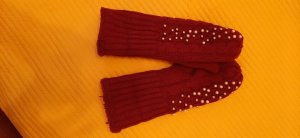 Mittens dark red