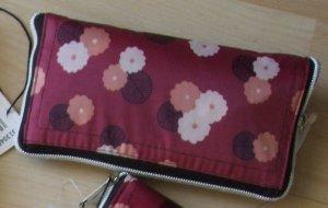 Pink Pearl Burlap Bag dark red-brick red