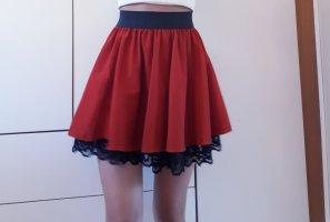 Zara Plaid Skirt black-carmine