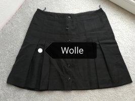 VINTAGE  70er Wollen rok zwart