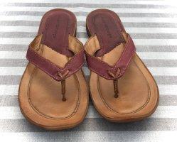 Air Step High-Heeled Toe-Post Sandals purple