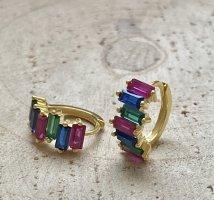 Farbige Ohrringe  silber 925 vergoldet