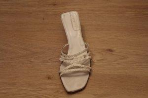 Farrutx Sandales à talons hauts et lanière blanc cuir
