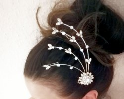 Fascinator / Diamandhaarschmuck mit Strass