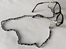 Fashion Brillenkette oder Maskenkette Schwarz/Silber