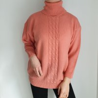 fashion firenze lachs aprikot S rosa Oversize Pullover Hoodie Pulli Sweater Oberteil True Vintage