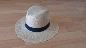 Fashy Chapeau de paille noir-beige