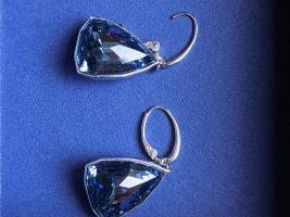 Swarovski Wiszące kolczyki stalowy niebieski-niebieski