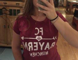 FCB FC Bayern Fan T-Shirt pink lila beere