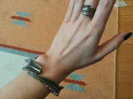 Feder Armreif + Ring