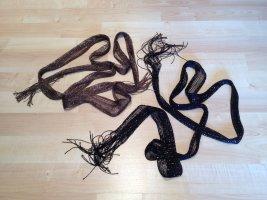 Feine schwarz und khaki Glitzerschals mit Fransen (NEU)