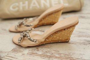 Vicini Platform Sandals cream-nude