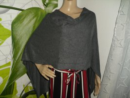 Comma Poncho en tricot gris foncé