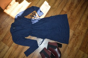 Kocca Jurk met lange mouwen donkerblauw
