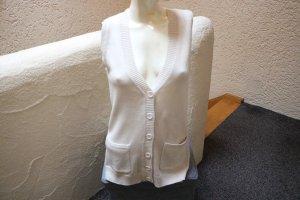 Boysen's Cardigan lungo smanicato bianco sporco Tessuto misto