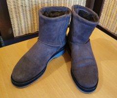 Paul Green Botas de piel marrón grisáceo-marrón claro