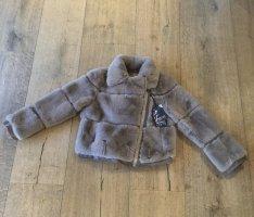 Made in Italy Fur Jacket beige-brown