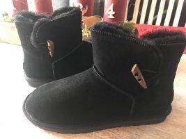 Bonova Futrzane buty czarny