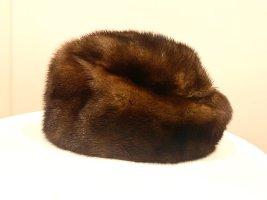 Vintage Chapeau en fourrure brun fourrure
