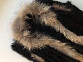 Smanicato di pelliccia nero-marrone Pelliccia