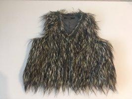 BlendShe Fake Fur Vest multicolored
