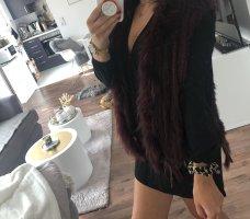 Fur Jacket bordeaux-dark red