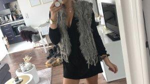 Fur Jacket grey-light grey