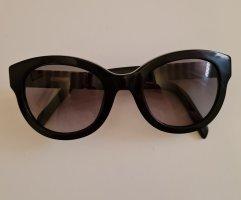 Ronde zonnebril zwart-lichtbruin