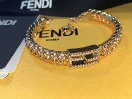 Fendi Baguette Armband Armreif mit Kristallen Vintage NEU
