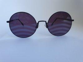 Fendi Occhiale da sole rotondo viola scuro