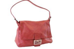 Fendi Shoulder Bag red leather