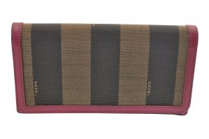 Fendi Portemonnee bruin Textielvezel