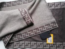Fendi Wollen sjaal grijs-bruin-brons Wol