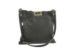 Fendi Shoulder Bag grey textile fiber