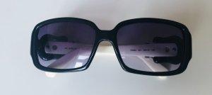Fendi Gafas de sol ovaladas blanco-negro